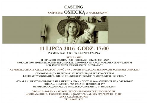 Casting na Osiecką 2016