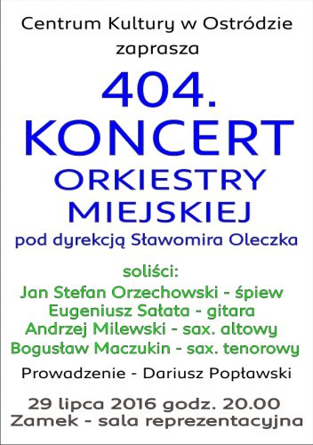 Orkiestra plakat