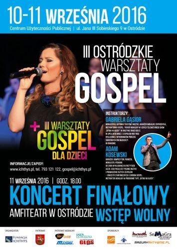 III Warsztaty Gospel - 2016 - Plakat A2 kopia